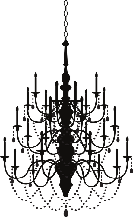 żyrandole kryształowe czarne